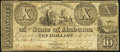Wetumpka, AL- Wetumpka Trading Co. of the State of Alabama $10 Jan. 26, 1839 Very Good-Fine