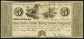 Obsoletes By State:Indiana, Connersville, IN- White Water Valley Canal Company $5 Nov. 20, 1843 Wolka 140-3 Fine-Very Fine.. ...
