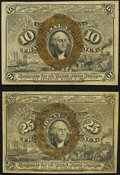 Fr. 1244 10¢ Second Issue XF; Fr. 1286 25¢ Second Issue Fine-VF. ... (Total: 2 notes)