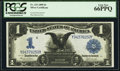 Large Size:Silver Certificates, Fr. 233 $1 1899 Silver Certificate PCGS Gem New 66PPQ.. ...