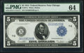 Large Size:Federal Reserve Notes, Fr. 871c $5 1914 Federal Reserve Note PMG Choice Uncirculated 64.. ...