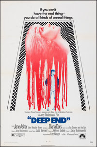 """Deep End & Other Lot (Paramount, 1970). Folded, Very Fine-. One Sheets (2) (27"""" X 41""""). Drama. ... (Total:..."""