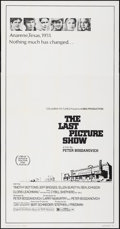 Movie Posters:Drama, The Last Picture Show (Columbia, 1971). Folded, Very Fine-...