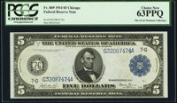 Fr. 869 $5 1914 Federal Reserve Note PCGS Choice New 63PPQ