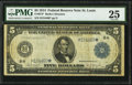 Fr. 874* $5 1914 Federal Reserve Note PMG Very Fine 25