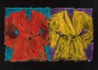 Jim Dine (b. 1935) Henry Street Robes, 2006 Aquatint and digital print in colors on Strathmore black
