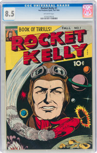 Rocket Kelly #1 (Fox Features Syndicate, 1945) CGC VF+ 8.5 Off-white pages