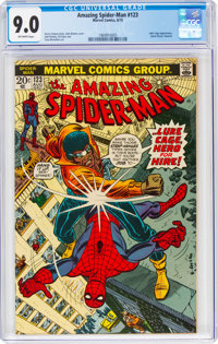 The Amazing Spider-Man #123 (Marvel, 1973) CGC VF/NM 9.0 Off-white pages
