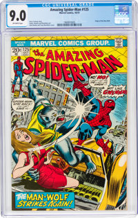The Amazing Spider-Man #125 (Marvel, 1973) CGC VF/NM 9.0 Off-white pages