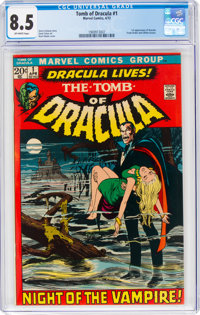Tomb of Dracula #1 (Marvel, 1972) CGC VF+ 8.5 Off-white pages