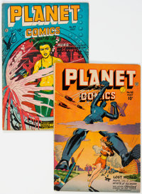 Planet Comics #48 and 49 Group (Fiction House, 1947) Condition: Average VG+.... (Total: 2 Items)