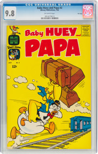 Baby Huey and Papa #2 File Copy (Harvey, 1962) CGC NM/MT 9.8 Off-white pages