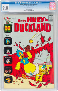 Baby Huey in Duckland #14 File Copy (Harvey, 1966) CGC NM/MT 9.8 Off-white to white pages