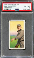 Baseball Cards:Singles (Pre-1930), 1909-11 T206 Sovereign 350 Sam Crawford (Throwing) PSA NM-MT 8 - Pop One, None Higher for Brand! ...