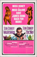 "Movie Posters:James Bond, Goldfinger/Dr. No Combo (United Artists, R-1966). Folded, Fine/Very Fine. One Sheet (27"" X 41""). James Bond.. ..."