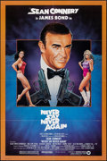 "Movie Posters:James Bond, Never Say Never Again (Warner Bros., 1983). Folded, Very Fine/Near Mint. One Sheet (27"" X 41"") Rudy Obrero Artwork. James Bo..."