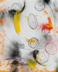 Futura 2000 (b. 1955) Untitled, 2013 Mixed media and enamel spray paint on panel 59-1/2 x 47-1/2