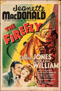 "The Firefly (MGM, 1937). Folded, Very Good+. One Sheet (27"" X 41"") Style D. Musical"