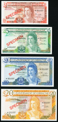 World Currency, Gibraltar Government of Gibraltar 1; 5; 10; 20 Pounds 20.11.1975 (1978) Pick CS1 Collectors Series Specimen Set Choice Cri... (Total: 4 notes)