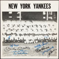 Autographs:Photos, 1957 New York Yankees Team Signed Photograph....