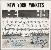 1957 New York Yankees Team Signed Photograph