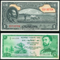 World Currency, Ethiopia State Bank of Ethiopia 1 Dollar ND (1945) Pick 12b; ND (1961) Pick 18 Choice Crisp Uncirculated.. ... (Total: 2 notes)