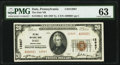 National Bank Notes:Pennsylvania, Dale, PA - $20 1929 Ty. 2 The Dale National Bank Ch. # 12967 PMG Choice Uncirculated 63.. ...