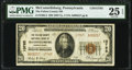 National Bank Notes:Pennsylvania, McConnellsburg, PA - $20 1929 Ty. 2 The Fulton County National Bank Ch. # 13765 PMG Very Fine 25 EPQ.. ...