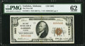 National Bank Notes:Alabama, Gadsden, AL - $10 1929 Ty. 1 The First National Bank Ch. # 3663 PMG Uncirculated 62.. ...