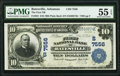 National Bank Notes:Arkansas, Batesville, AR - $10 1902 Plain Back Fr. 624 The First National Bank Ch. # (S)7556 PMG About Uncirculated 55 EPQ.. ...