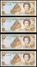 World Currency, Cayman Islands Monetary Authority 25 Dollars 1998 Pick 24 (2); 2003 Pick 31a (2) Choice Crisp Uncirculated.. ... (Total: 4 notes)