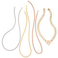 Estate Jewelry:Necklaces, Diamond, Gold Necklaces. ... (Total: 4 Items)