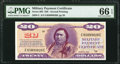 Military Payment Certificates:Series 692, Series 692 $20 Second Printing PMG Gem Uncirculated 66 EPQ.. ...