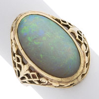 Opal, Gold Ring