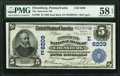 National Bank Notes:Pennsylvania, Ebensburg, PA - $5 1902 Date Back Fr. 590 The American National Bank Ch. # (E)6209 PMG Choice About Unc 58 EPQ.. ...