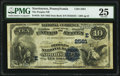 National Bank Notes:Pennsylvania, Norristown, PA - $10 1882 Date Back Fr. 545 The Peoples National Bank Ch. # (E)2581 PMG Very Fine 25.. ...