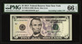 Small Size:Federal Reserve Notes, Ascending Ladder 12345678 Serial Fr. 1996-B $5 2013 Federal Reserve Note PMG Gem Uncirculated 66 EPQ.. ...