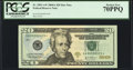 Low Serial 00000123* Fr. 2091-A* $20 2004A Federal Reserve Note. PCGS Perfect New 70PPQ