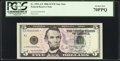 Fr. 1993-A* $5 2006 Federal Reserve Note. PCGS Perfect New 70PPQ