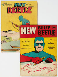 Blue Beetle #22 and 28 Group (Fox Features Syndicate, 1943).... (Total: 2 Comic Books)