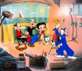 "Animation Art:Limited Edition Cel, Popeye, Betty Boop, and Koko ""Photo Op"" Signed Artist's Proof Cel, #43/50 (King Features, 2000). ..."