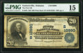 National Bank Notes:Alabama, Guntersville, AL - $20 1902 Plain Back Fr. 658 The First National Bank Ch. # (S)10990 PMG Choice Fine 15.. ...