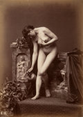 Photographs, Louis Jean Baptiste Igout (French, 1837-1881). Nude Study with Water Jug, 1870s. Albumen. 10-3/8 x 7-1/2 inches (26.4 x ...