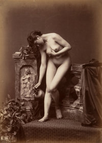 Louis Jean Baptiste Igout (French, 1837-1881) Nude Study with Water Jug, 1870s Albumen 10-3/8 x 7-1/2 inches (26.4 x
