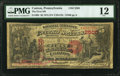 National Bank Notes:Pennsylvania, Canton, PA - $5 1875 Fr. 404 The First National Bank Ch. # 2505 PMG Fine 12.. ...