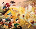 Memorabilia:Poster, Carl Barks Dam Disaster at Money Lake Signed Limited Edition Lithograph Print #83/345 (Another Rainbow, 1986)....
