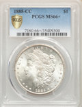 1885-CC $1 MS66+ PCGS. PCGS Population: (1278/105 and 219/7+). NGC Census: (679/102 and 57/2+). CDN: $1,400 Whsle. Bid f...