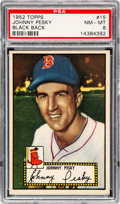 Baseball Cards:Singles (1950-1959), 1952 Topps Johnny Pesky (Black Back) #15 PSA NM-MT 8 - Only Four Higher. ...