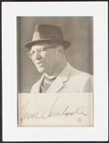 Autographs:Index Cards, Vince Lombardi Signed Cut with Frame and Picture. ...