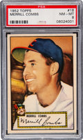 Baseball Cards:Singles (1950-1959), 1952 Topps Merrill Combs #18 PSA NM-MT 8 - Only Two Higher. ...